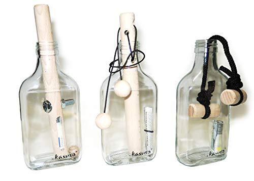kasuro Flaschensafe Set Schraube, Schlinge, Knoten