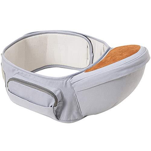 Wemk Ergonomico Hipseat Marsupio, Neonati Marsupio Sicurezza Supporto, La cintura è regolabile per una lunghezza massima di 53 , Puro cotone Leggero e Traspirante, Bambino da 0-36 Mesi(3 a 20 Kg)