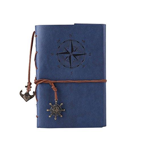 TILY Diario String chiave cuoio-taccuino rilegato (dark blue)
