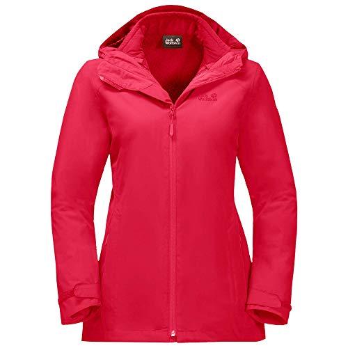 Jack Wolfskin Norrland 3In1 Jacket Damen Jacke, transparent/rot, XXL