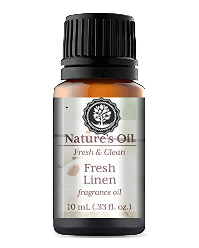 Fresh Linen Fragrance Oil 10ml for Diffuser, Making Soap, Candles, Lotion, Home Scents, Linen Spray and Lotion