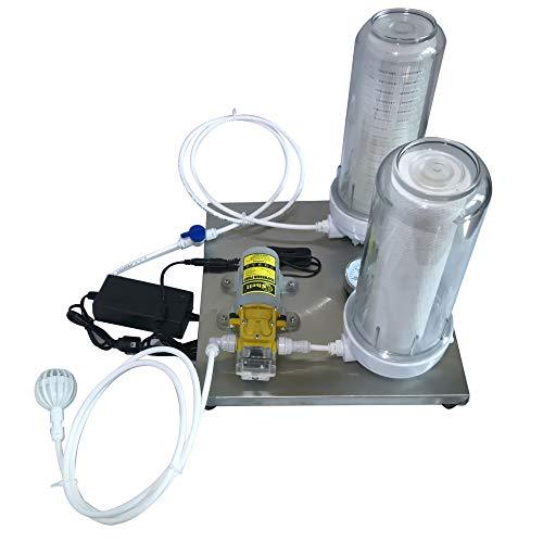 Máquina automática de filtrado de vino licor máquina de filtración doméstica Equipo de elaboración de cerveza Equipado con dos botellas a prueba de explosiones y Elemento de filtro de 10 pulgadas