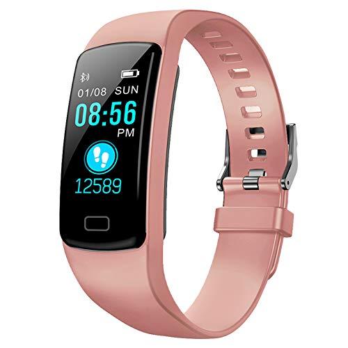Polywell FitnessTracker, Aktivitätstracker mit Herzfrequenz Monitor und Schlaf Monitor, Bluetooth, wasserdicht, Schrittzähler und Kalorienzähler Women and Men