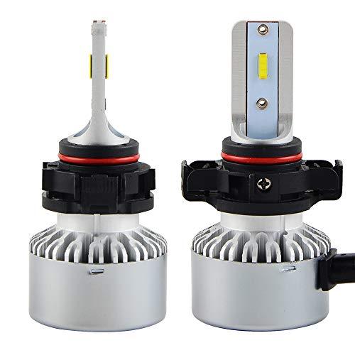 H2Racing 2PCS PSX24 Ampoules Phares LED,Bright White 4000LM IP67 Etanche 6000K 30W Conversion de Rechange Auto Eclairage-Halogen HID Xenon/Feux Anti-Brouillard/Hi/Lo Beam