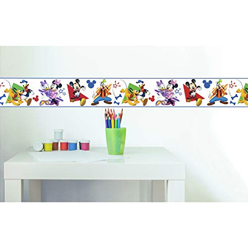 RoomMates Disney Mickey and Friends Peel and Stick Wallpaper Border