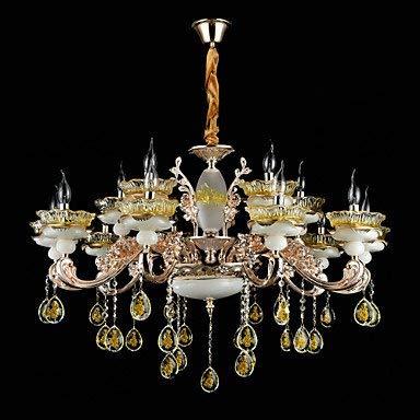 L-S moderne kroonluchters plafond lampen hanger licht zinklegering functie voor kristal mini stijl metaal binnen eetkamer hal 15 lampen 3C ce Fcc Rohs voor woonkamer slaapkamer, 220-240v