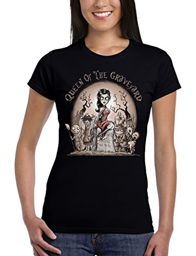 Camisetas La Colmena, 219-Camiseta Mujer Queen of The Graveyard (Saqman)