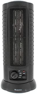 Comfort Zone CZ488 1500 Watt Mini Oscillating Ceramic Tower Heater, Black