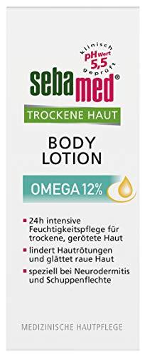 Sebamed Trockene Haut Omega 12% Bodylotion, 200 ml, lindert spürbar Hautrötungen, Rauheit und Schuppung bei sehr trockener Haut und hilft, den natürlichen Eigenschutz der Haut zu regenerieren