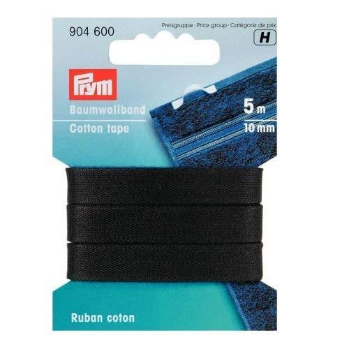 Prym Baumwollband 10 mm schwarz, 100% CO