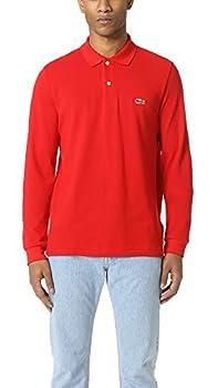 Lacoste Men s Classic Long Sleeve Pique Polo Shirt Red XXXXL