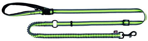 Trixie 12763 Joggingleine, 1,33–1,80 m/20 mm, grau/grün