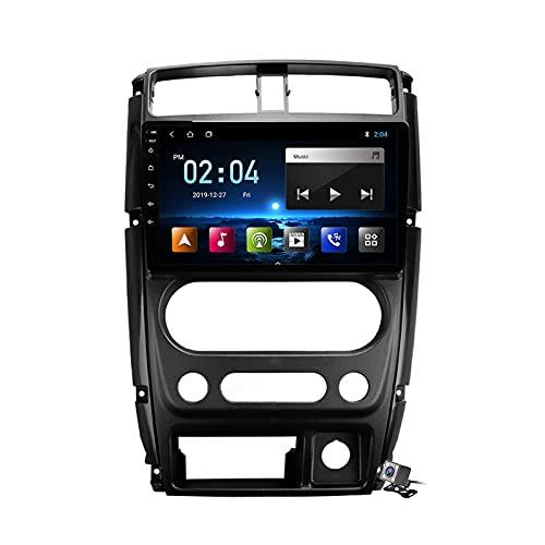 Buladala Android 10 GPS Autoradio Navigazione Stereo per Suzuki Jimny 3 2005-2019, con 9'' Touch Screen Supporto Sistemi Video/Chiamate BT/FM AM RDS DSP/Carplay Android Auto/AI Voice Control,M100
