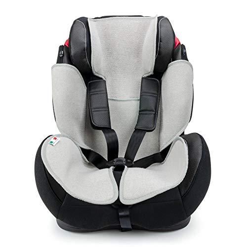 Babysanity® Copri Seggiolino Auto Universale AIR MESH 3D Compatibile Dinamyk 9/36-15/36 con Copri Seduta Traspirante Rinfrescante e Antibatterico -MADE IN ITALY- Grigio