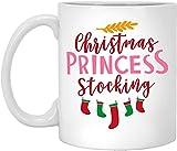 BeeTheOnly Tazze di Natale Divertenti Calze da Principessa, i Migliori Regali di Natale per Gli Amici Famiglia Colleghi Tazza da caffè Bianca 11oz
