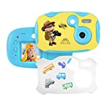 "Tyhbelle DIY Kamera für Kinder mit Aufkleber Digital Kamera 1.44"" Bildschirm Mini Kids Camera Kinderkamera inkl.USB Kabel in Blau und Pink (Blau) -"