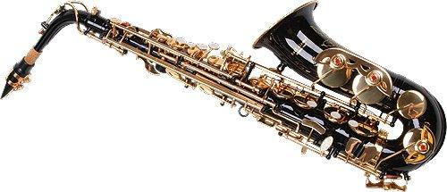 Karl Glaser Saxofón Alto, Negro/Oro, con maletín