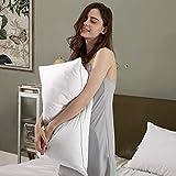 Chahit White 10% Goose Down 90% Feather Pillow Size 17' X 27' Set of 1 Pcs (Standard)