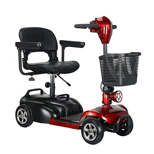 SZ-DDC Draagbare mobielstep, reispavilent, past in de meeste autoboten, 4-wielige elektrische scooters voor volwassenen, krachtige motor