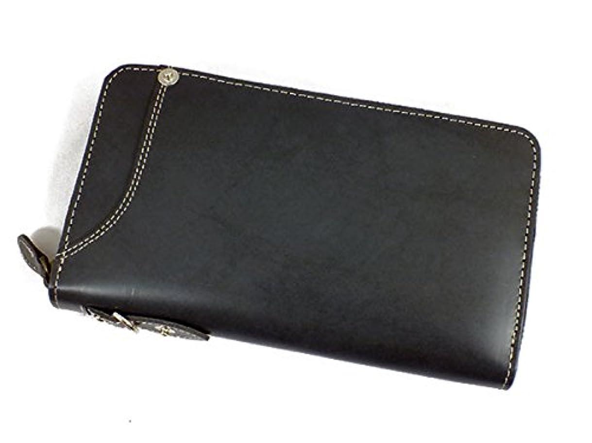 前述の再生的間接的イギンボトム IGGINBOTTOM ラウンドファスナー 長財布 IG-701-BK ブラック