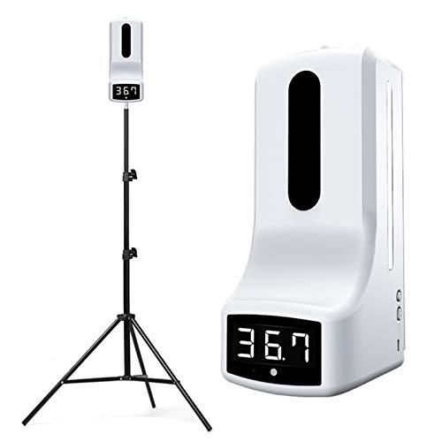 ZYC Berührungsloses digitales Infrarot-Wandthermometer mit 160 cm Stativständer K9 Automatischer Sensor Seifenspender 1000 ml