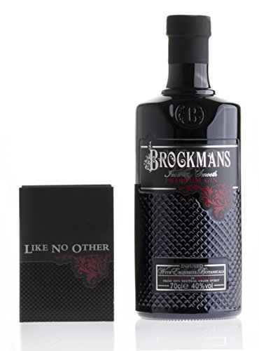 Brockmans Intensly Smooth Premium Gin (1 x 0.7 l) + original Brockmans Gin Perfect Serve Booklet
