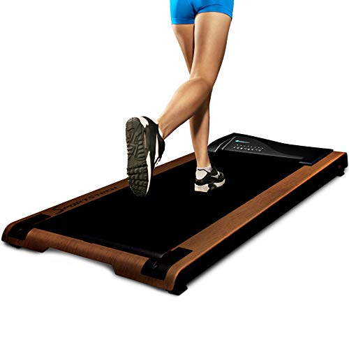 DESKFIT DFT200 Office Desk Treadmill, Fit & healthy at the office and at home, Move and work at the same time, no more back pain, With practical tablet holder, remote control and app (light brown)