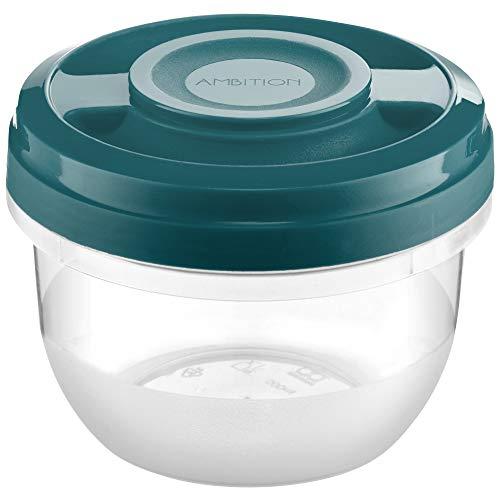 Ambition 51784 - Recipiente para microondas (0,5 L, plástico), color turquesa