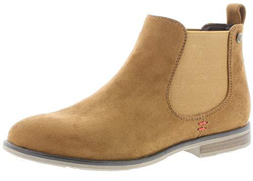 Rieker Damen Stiefeletten 90064, Frauen Chelsea Boots, schlupfstiefel gefüttert winterstiefeletten frauen weibliche lady,brandy,39 EU / 6 UK