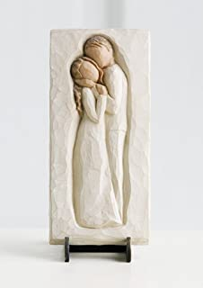 Willow Tree Embrace Plaque, Sculpted Hand-Painted bas Relief