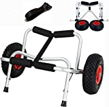 Wistar Canoe Cart Boat Kayak Canoe Carrier Dolly Trailer Tote Trolley Transport Cart Wheel, Capacity 220 Pound (Two Legs)