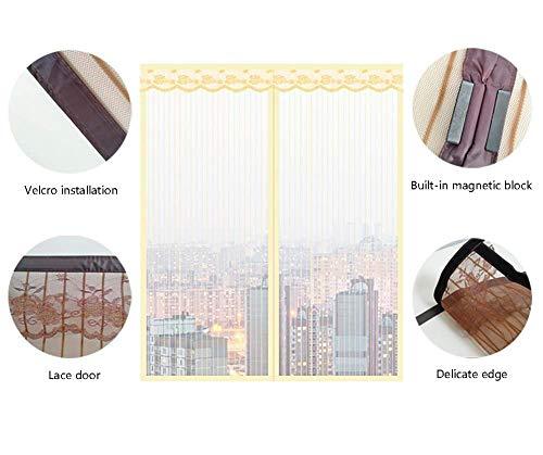 Anti Mosquito Bug Insect Fliegenfenstergitter Netzvorhang, einfaches Sandfensternetz Moskitonetznetz, Glasfaser-Mehrzwecknetz, gelb, 170 x 175 cm (67 x 69 Zoll)