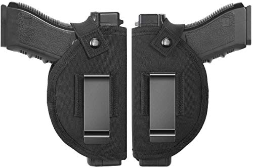Universal Holster Gun Concealed Carry IWB OWB Right Left Holster Fits SW MP ShieldGlock 26 27 29 30 33 42 43 Springfield XD XDSRuger LC9 All Similar Handguns