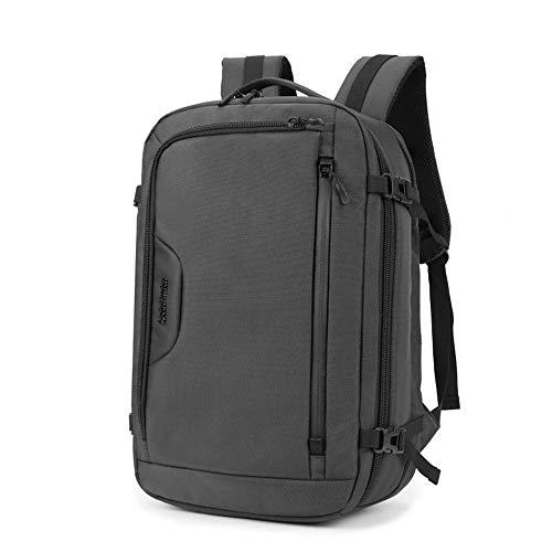 WLBHQ Multifunzione A Doppio Uso Laptop Backpack, Sacchetto del Calcolatore di Svago degli Uomini con Portable Hanging Selfie Stick, Doppia Protezione, Zaino Tipo Solid Buckle,Grigio