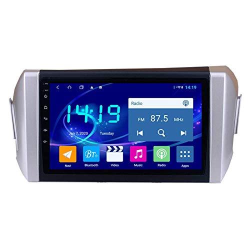 WY-CAR Coche Radio GPS Navegación Multimedia Player para Toyota INNOVA 2015-2018, Pantalla Táctil Completa De 2.5D 9 Pulgadas/Android 8.1 Double DIN/Espejo Link/FM/Bluetooth,4 Core-WiFi: 4+64G