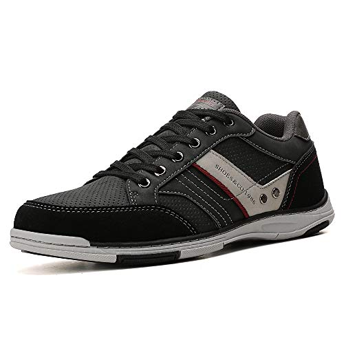 AX BOXING Zapatillas Hombres Deporte Running Sneakers Zapatos para Correr Gimnasio Deportivas Padel Transpirables Casual 40-46 (A9099 Schwarz, Numeric_41)