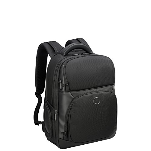 DELSEY PARIS - QUARTERBACK PREMIUM - Sac à dos extensible 2 compartiments - protection PC - Noir