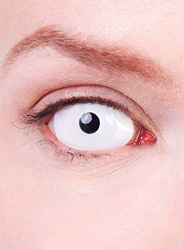 Maskworld - Sclera weiß - farbige Kontaktlinsen / 6-Monats-Linsen - Motivlinsen ohne Sehstärke (22mm) - Unisex - Erwachsene - ideal für Halloween, Karneval, Motto- und Horror-Party