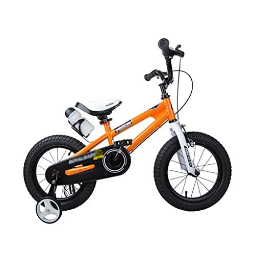 bicicleta para niños, niños Durante 3-10 años, 12/14/16 Pulgadas niños y niñas, con Diapositivas de Botellas de Agua (Color : Orange, Size : 14 Inch)