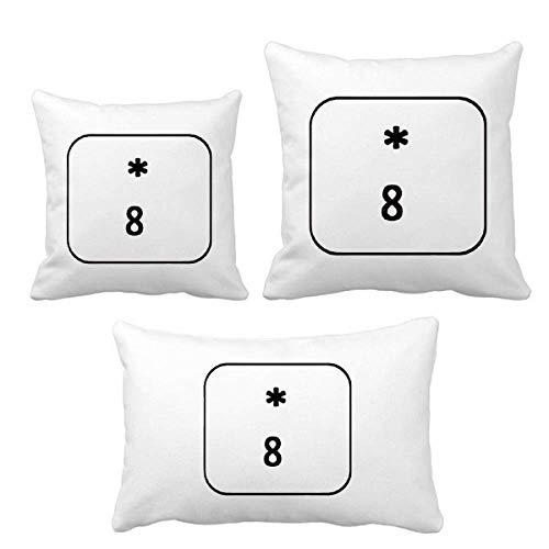DIYthinker Keyboard Symbol 8 Werfen Kissen Set Einfügen Kissen Cover Home Sofa Dekor Geschenk