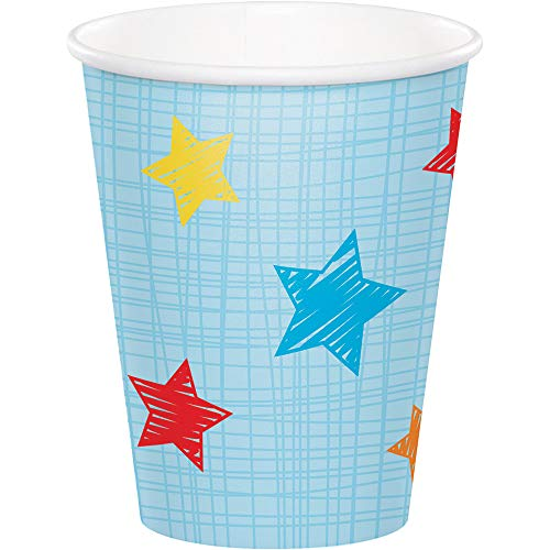 """Best Buy! Club Pack of 96 Blue and Red """"One is Fun"""" themed Hot cold Cups 5.6"""""""