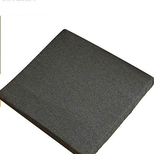KEKOR Cojines para Sillas cojín de la Silla, Oficina colchón de látex Comer Silla cojín Tatami cojín del sofá de Invierno Gruesa, de Color Gris Oscuro 40x40cm (Size : 40x40x3cm)