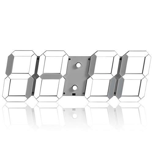 Myfei Digitale wandklok met led-cijfers, driedimensionale sluimerfunctie, met alarm, temperatuur afstandsbediening voor fitnessstudio