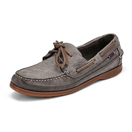 Sebago Mens Schooner Crazy Horse Docksides Boat Shoes Dark Grey 8.5 US