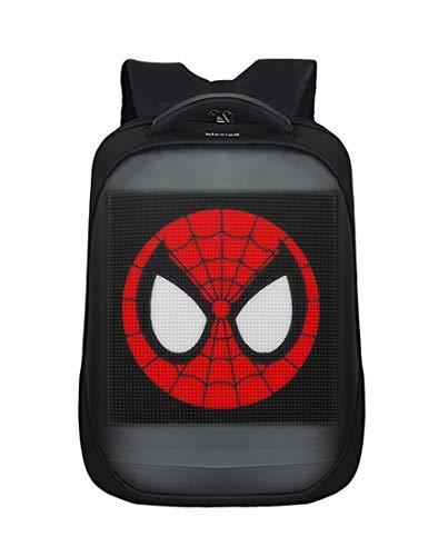 Novelty Smart LED Backpack Fashion Black Customizable Laptop Backpack Creative Christmas Gift School Bag (Black New Modol)