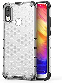For Huawei Y7 Prime 2019 Clear Honeycomb rugged Armor Case Cover