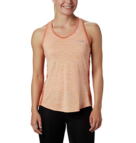 Columbia W Trinity Trail II Tank Camiseta De Tirantes, Mujer, Orange, XS