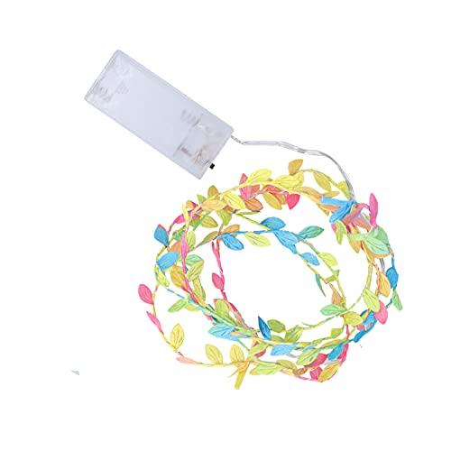 Crisis Decoración de luz LED, Forma de Hojas de Colores de Cadena de luz LED para Bodas para Fiestas para Dormitorio para Navidad