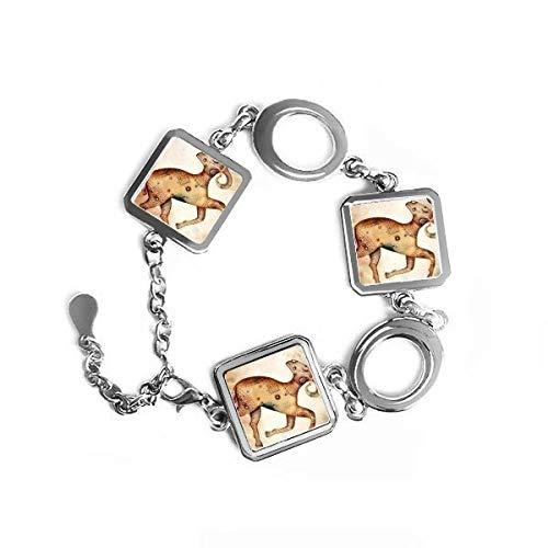 maart april Ram sterrenbeeld Zodiac vierkante vorm metalen armband liefde geschenken sieraden met ketting decoratie