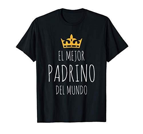 Hombre El Mejor Padrino del mundo Súper regalo Día del Padre Camiseta